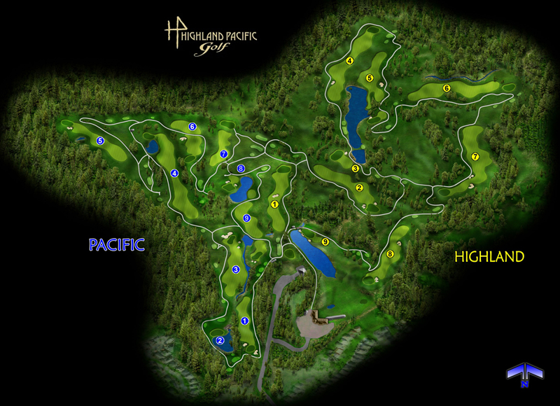 Course Layout Highland Pacific Golf