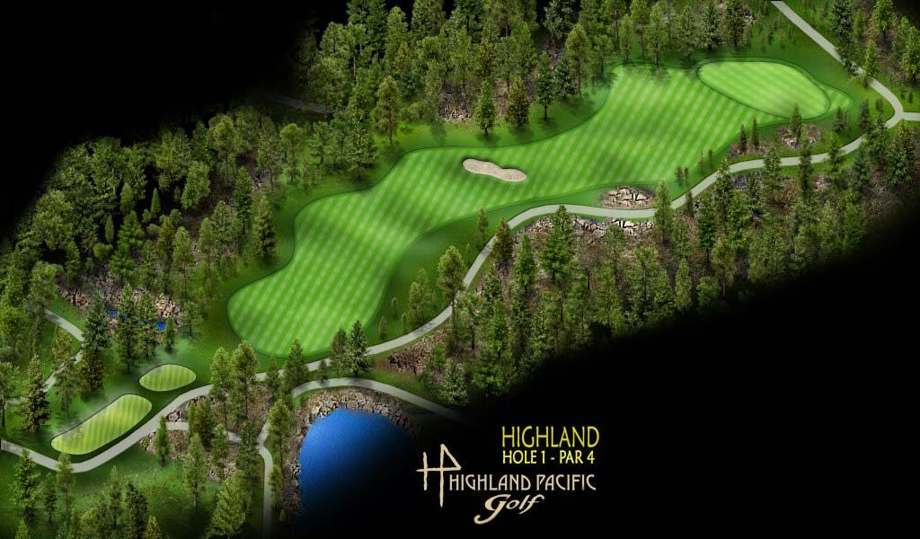 Highland Course Hole 1